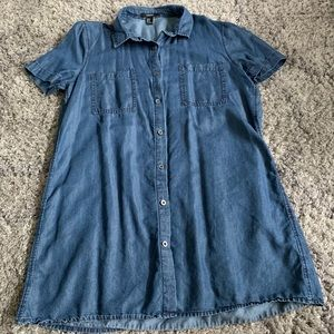 Forever 21 Button Down Denim Dress